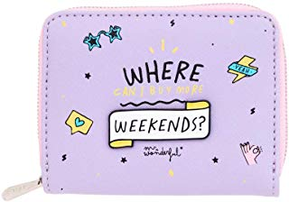 Mr. Wonderful Purse-Where Can I Buy More Weekends, color lila